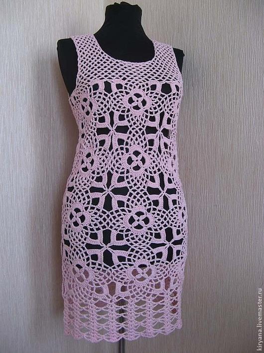 Платья ручной работы. Ярмарка Мастеров - ручная работа. Купить Платье/туника/сарафан. Handmade. Бледно-розовый, платье летнее, ажурное платье
