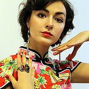Одежда ручной работы. Ярмарка Мастеров - ручная работа Платье в китайском стиле ФРУКТОВЫЙ МИКС. Handmade.