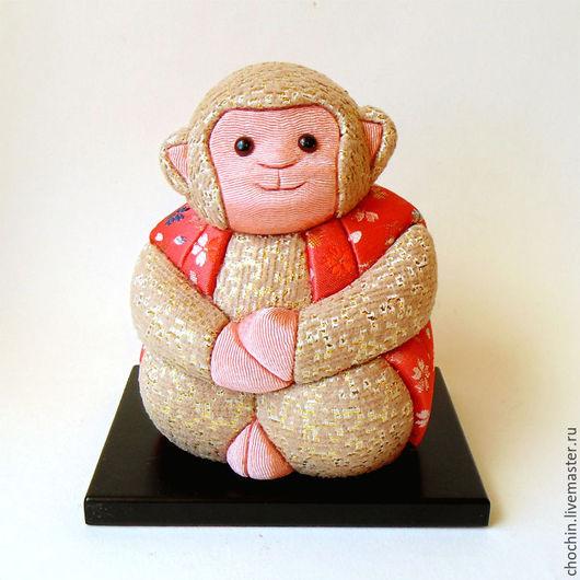 коллекционные японские куклы купить коллекционные куклы магазин коллекционные куклы ручной работы в москве куклы кимэкоми кимекоми купить обезьяна год обезьяны восточный гороскоп заказать игрушку обезьянку обезьяна забавная обезьянка игрушка смешная обезьянка chochin Мария Ильницкая