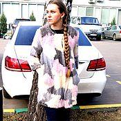Одежда ручной работы. Ярмарка Мастеров - ручная работа Пальто из вязаной нокри. Handmade.