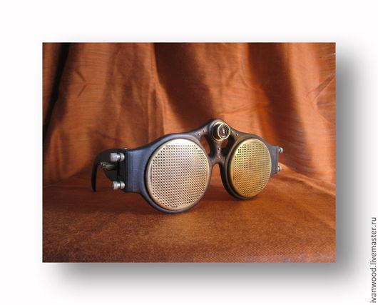 Аксессуары ручной работы. Ярмарка Мастеров - ручная работа. Купить Стимпанк очки. Handmade. Черный, латунь