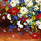 Oil painting of Daisies with poppies. Pictures. Zabaikalie. My Livemaster. Фото №4