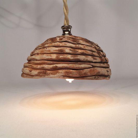 Спиральная фантазия №3. Подвесной керамический светильник ручной работы.
