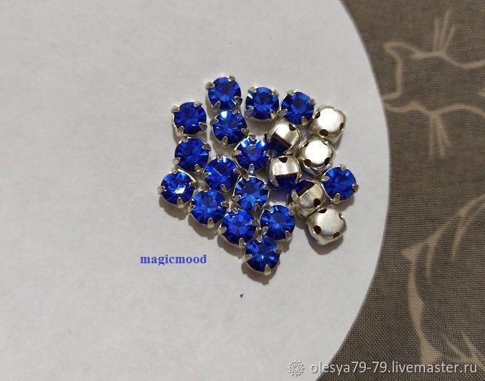10pcs Czech rhinestone DACs Sapphire ss20 4,6-4,8 mm Czech sewn crab, Rhinestones, Chelyabinsk,  Фото №1