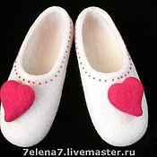 """Обувь ручной работы. Ярмарка Мастеров - ручная работа Тапочки """"Для любимой..."""". Handmade."""