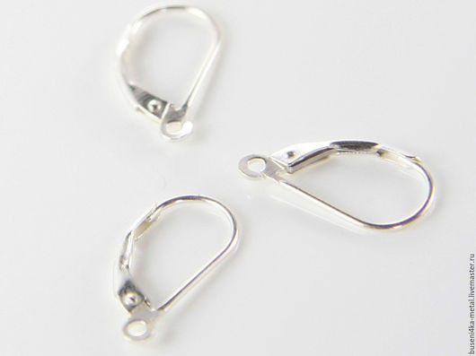 Для украшений ручной работы. Ярмарка Мастеров - ручная работа. Купить Швензы Sterling Silver №4 (1 пара). Handmade.