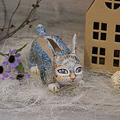 Сувениры и подарки handmade. Livemaster - original item Ceramic figurine piggy Bank colorful Bunny. Handmade.