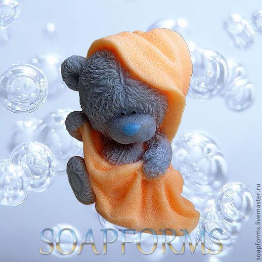 """Форма силиконовая для мыла """"Мишка Тедди в полотенце"""""""