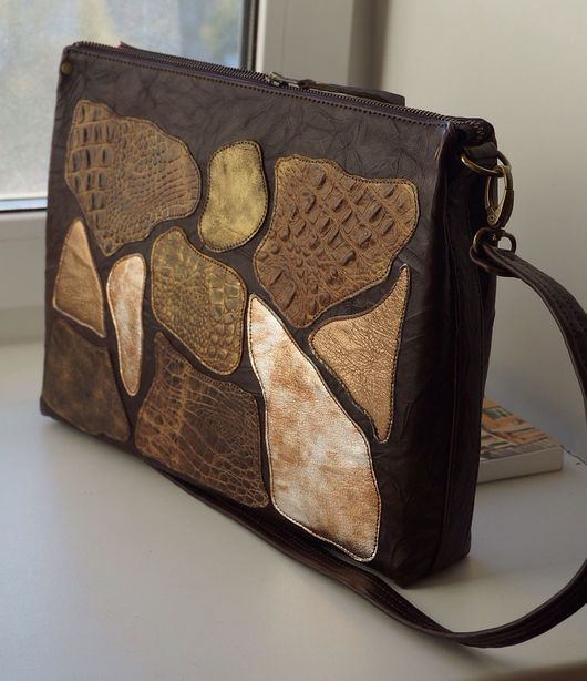 Женские сумки ручной работы. Ярмарка Мастеров - ручная работа. Купить Кожаная сумка-планшет. Handmade. Кожаная сумка, кожа