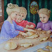 Картины и панно handmade. Livemaster - original item The watercolor paintings In the country at grandma`s. Handmade.