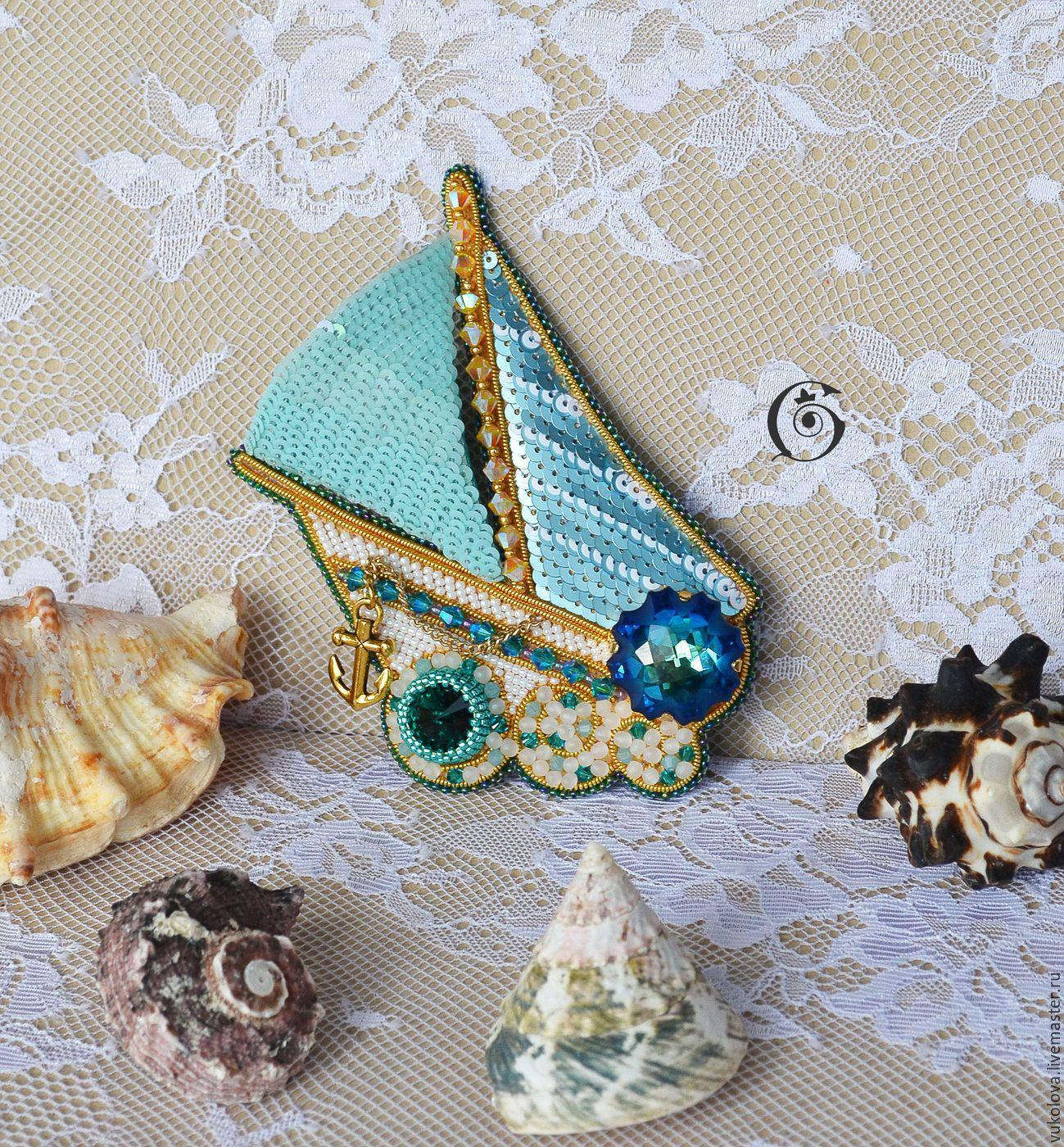 Брошь с кристаллами сваровски мастер класс