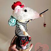 Год Крысы 2020 ручной работы. Ярмарка Мастеров - ручная работа Год Крысы 2020: Мышка рыболов. Handmade.