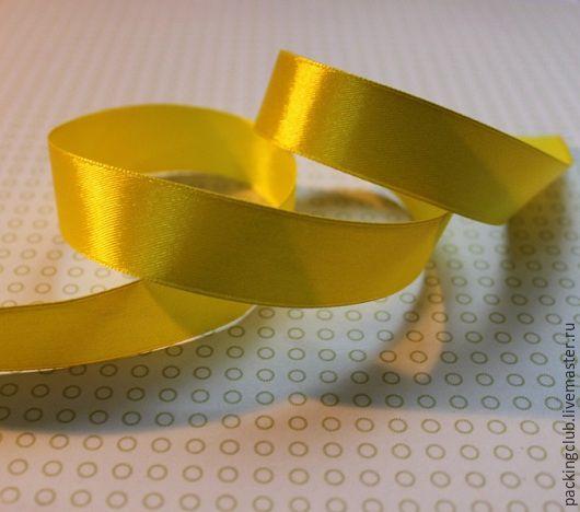 Другие виды рукоделия ручной работы. Ярмарка Мастеров - ручная работа. Купить Лента атласная  10 мм. Handmade. Желтый