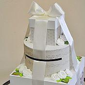 """Свадебный салон ручной работы. Ярмарка Мастеров - ручная работа Свадебная коробка """"Торт"""". Handmade."""