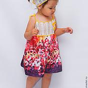 Работы для детей, handmade. Livemaster - original item Children`s sundress complete with scarf. Handmade.