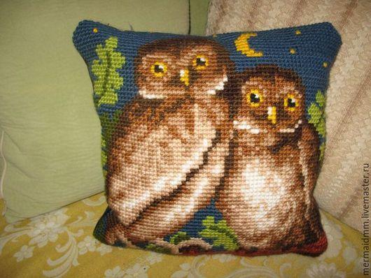 Текстиль, ковры ручной работы. Ярмарка Мастеров - ручная работа. Купить Совы. Handmade. Комбинированный, подушка, подушка декоративная, вышивка