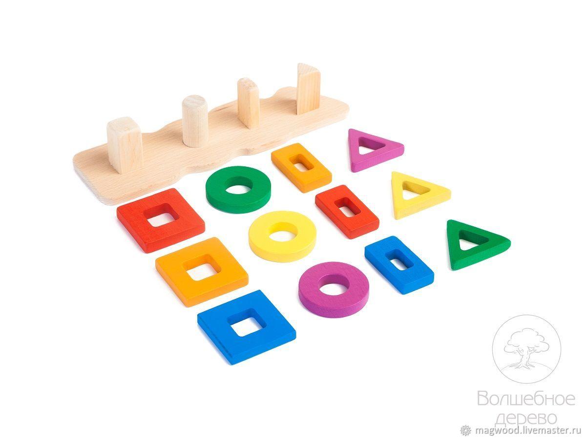 Развивающие игрушки ручной работы. Ярмарка Мастеров - ручная работа. Купить Сортер 4х1. Handmade. Игрушка, сортер, бук