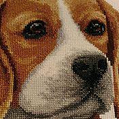 """Картины и панно ручной работы. Ярмарка Мастеров - ручная работа Вышивка крестом """"Бигль"""". Handmade."""