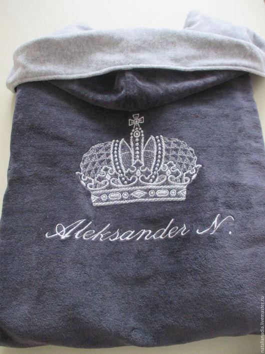 Халаты ручной работы. Ярмарка Мастеров - ручная работа. Купить Мужской халат (корона). Handmade. Комбинированный, подарок юноше