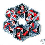 Для дома и интерьера handmade. Livemaster - original item Hot napkin stand pot holders for kitchen patchwork stitch. Handmade.