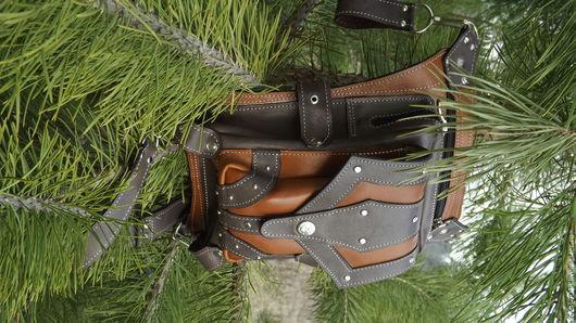 Мужские сумки ручной работы. Ярмарка Мастеров - ручная работа. Купить Набедренная сумка. Handmade. Комбинированный, практичный подарок