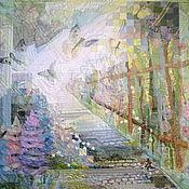 """Картины и панно ручной работы. Ярмарка Мастеров - ручная работа Панно """" За околицей"""". Handmade."""
