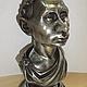 Бюст президента Путина В.В. Подарок для мужчин, статуэтка, фигурка, настольный сувенир из полимеров под гипс ,белый цвет, под серебро, золото или бронзу..