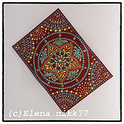 Cover handmade. Livemaster - original item Red passport cover genuine leather Mandala. Handmade.