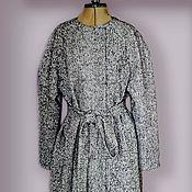 Одежда handmade. Livemaster - original item Cocoon coat with belt