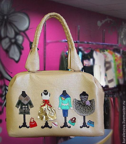 """Женские сумки ручной работы. Ярмарка Мастеров - ручная работа. Купить Кожаная сумка """"Шоппинг-2"""". Handmade. Бежевый, шоппинг"""