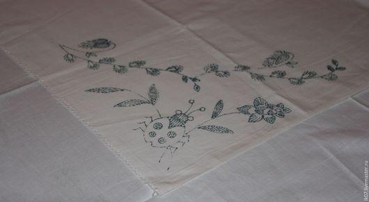 Вышивка ручной работы. Ярмарка Мастеров - ручная работа. Купить Скатерть / Канва с нанесённым рисунком для вышивания Винтаж. Handmade.