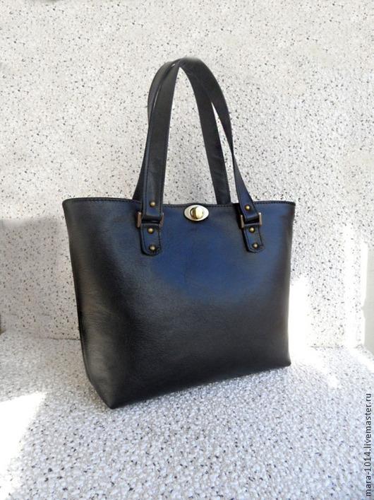 Женские сумки ручной работы. Ярмарка Мастеров - ручная работа. Купить VICTORIA bag, черная кожаная сумка. Handmade. Черный