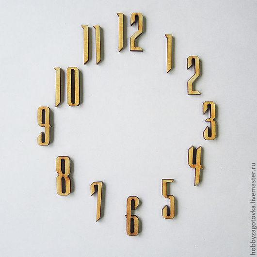 Декупаж и роспись ручной работы. Ярмарка Мастеров - ручная работа. Купить Комплект цифр для часов F-0095. Handmade. Белый