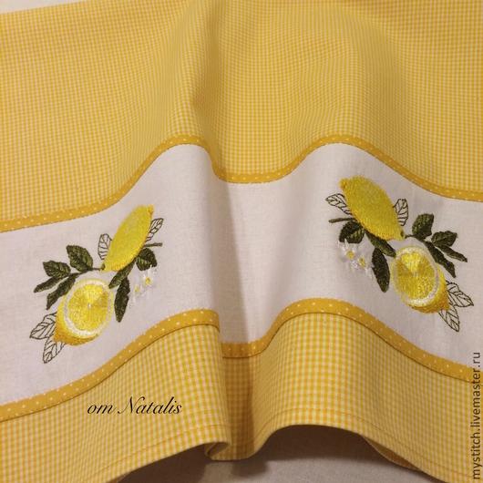 """Кухня ручной работы. Ярмарка Мастеров - ручная работа. Купить Кухонное полотенце из льна """"Лимоны-3"""". Handmade. Полотенце"""
