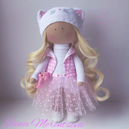 Коллекционные куклы ручной работы. Ярмарка Мастеров - ручная работа. Купить Интерьерная куколка ''Кошечка''. Handmade. Кукла ручной работы