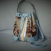 Сумки и аксессуары handmade. Livemaster - original item Bag W0071. Leather, tapestry. The author`s work. Handmade.