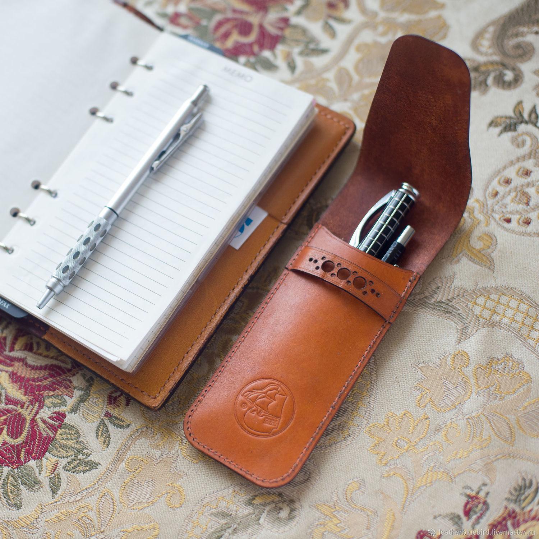 Кожаный пенал для ручек и карандашей, Пеналы, Санкт-Петербург, Фото №1