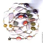 Украшения handmade. Livemaster - original item Natural stones 120 smitten, rhodonite, rose quartz, amethyst. Handmade.