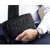 Сумки и аксессуары handmade. Livemaster - original item Bag crocodile zipper. Handmade.