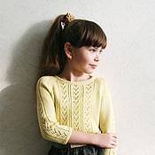 Работы для детей, ручной работы. Ярмарка Мастеров - ручная работа Пуловер вязаный для девочки Vanilla ice. Handmade.