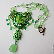 """Украшения ручной работы. Ярмарка Мастеров - ручная работа Колье """"Green Budda"""". Handmade."""