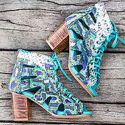 Обувь ручной работы handmade. Livemaster - original item Summer leather shoes Python Mia / Summer shoes from Python. Handmade.