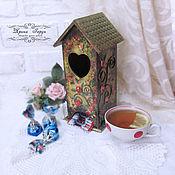 """Для дома и интерьера handmade. Livemaster - original item Чайный домик """"В саду цвели розы"""". Handmade."""