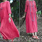 """Одежда ручной работы. Ярмарка Мастеров - ручная работа Бохо-платье """"Розовый рассвет"""". Handmade."""