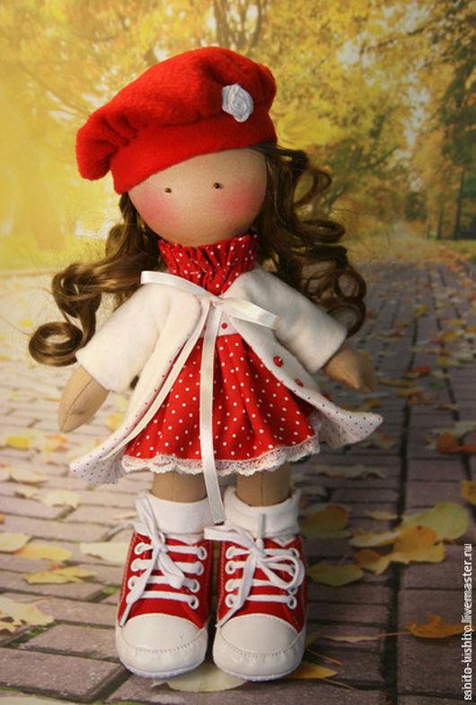 Куклы и игрушки ручной работы. Ярмарка Мастеров - ручная работа. Купить Набор для шитья Кукла Ариша. Handmade. Ярко-красный