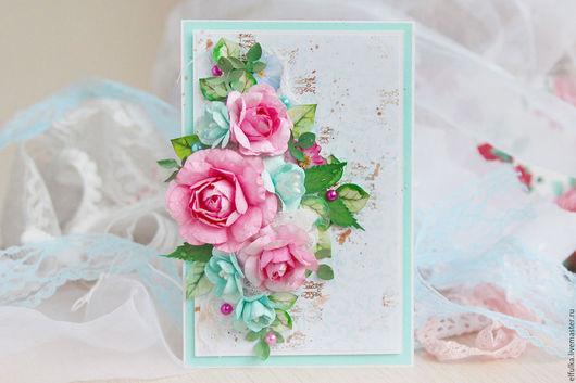 Открытка с цветами. Открытка ручной работы. Открытка с цветами купить. Открытки ручной работы. Купить открытку с цветами. заказать открытку ручной работы. Цветочная открытка. Открытка