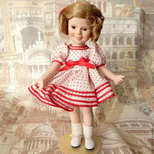 Винтажные куклы и игрушки. Ярмарка Мастеров - ручная работа. Купить Коллекционна кукла Shirley Temple. Handmade. Бежевый, фарфор