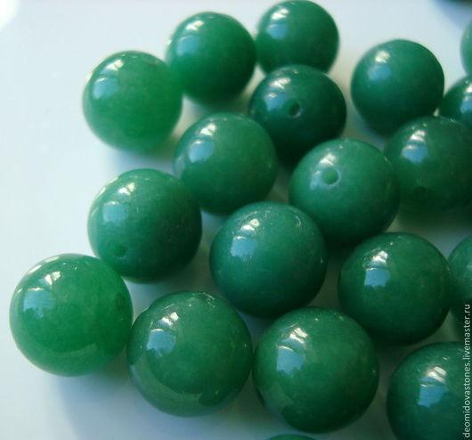 Для украшений ручной работы. Ярмарка Мастеров - ручная работа. Купить Нефрит зеленый бусины для украшений, 12 мм.. Handmade.
