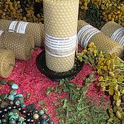 """Свечи ручной работы. Ярмарка Мастеров - ручная работа Свеча-""""Столбик"""", из вощины большая.. Handmade."""