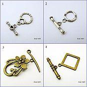 Материалы для творчества handmade. Livemaster - original item Toggle. Lock for jewelry Art.ZU12. Handmade.
